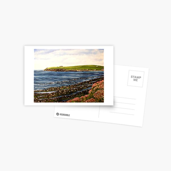 """Kilbaha - county Clare, Ireland"" - Oil Painting Postcard"