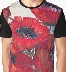 Red large poppy, floral painting, poppy illustration Graphic T-Shirt