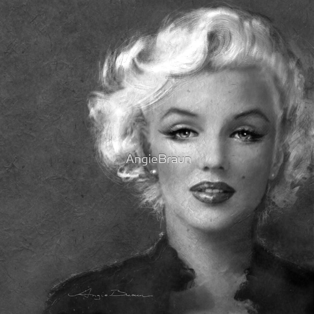 Marilyn Soft bw by AngieBraun