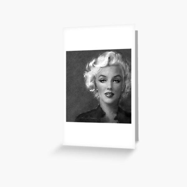 Marilyn Soft bw Greeting Card