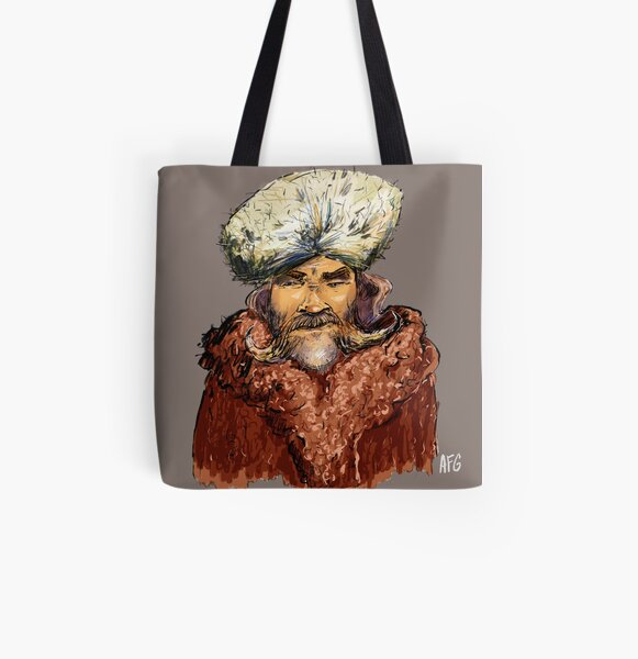 Mountain Man All Over Print Tote Bag