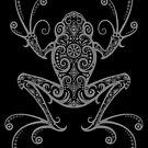 Komplizierter grauer und schwarzer Laubfrosch von jeff bartels