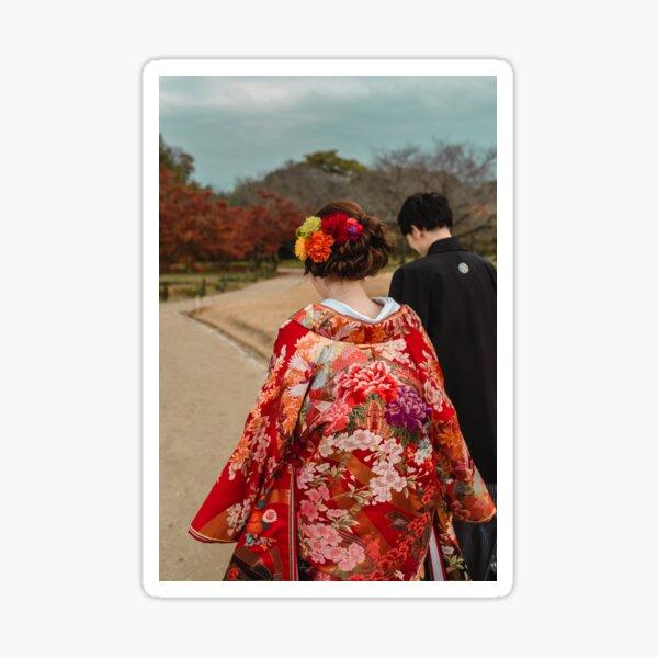 Kimono Bride Sticker