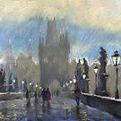 Prague Charles Bridge 06 by Yuriy Shevchuk