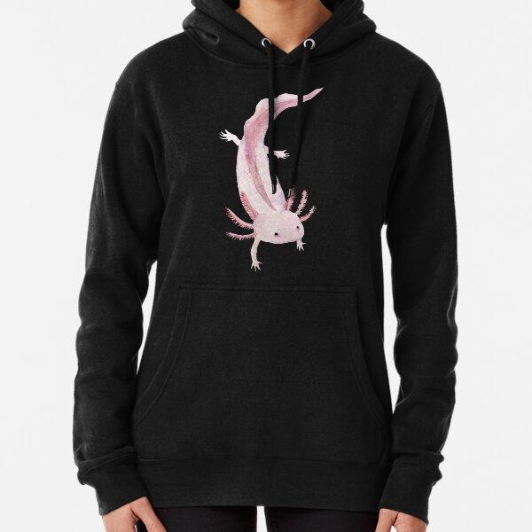 Pink Axolotl Pullover Hoodie