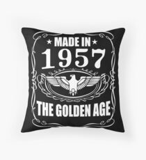 Made In 1957 - The Golden Age Throw Pillow