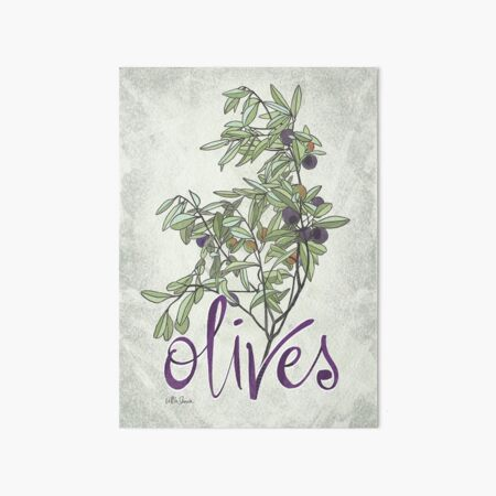 olives Art Board Print