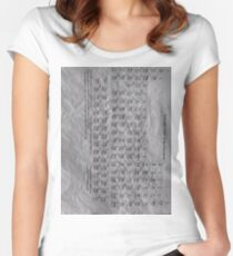 Periodic Table of the Elements Women's Fitted Scoop T-Shirt