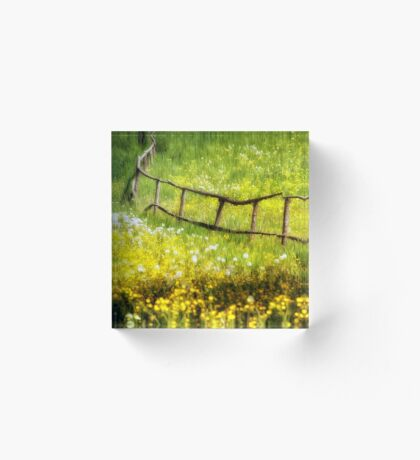 Summer in the Countryside Acrylic Block