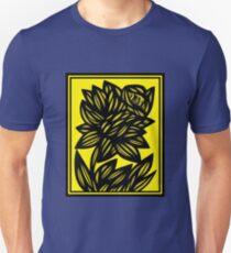 Penunuri Daffodil Flowers Yellow Black Unisex T-Shirt