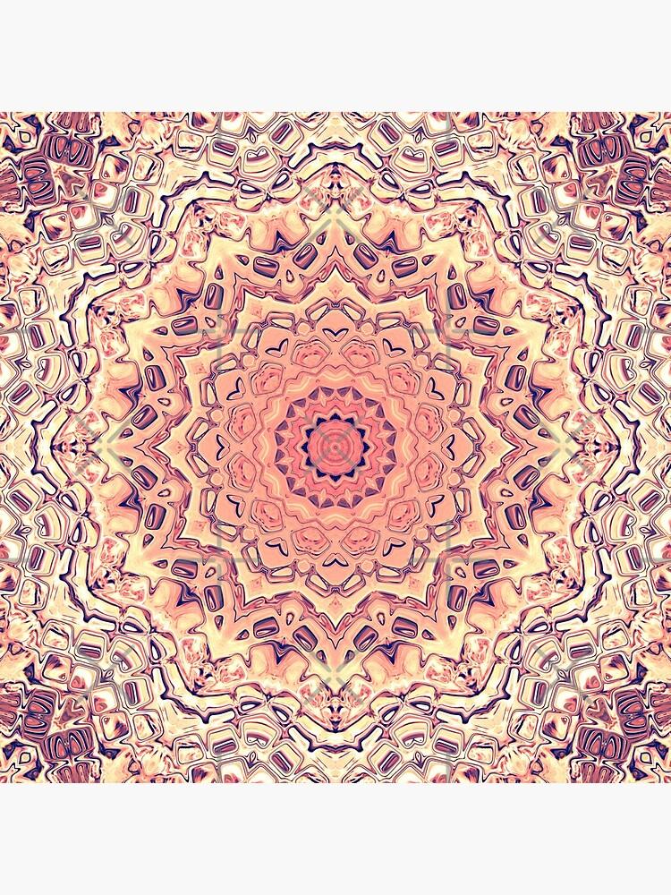 Orange And Gold Mandala by perkinsdesigns