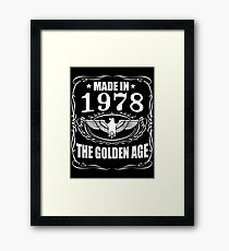 Made In 1978 - The Golden Age Framed Print