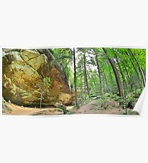 Ash Cave Panorama At Hocking Hills Ohio Poster