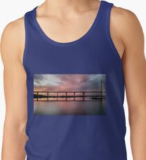 Winter Sunset under the Crossing Tank Top