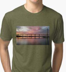Winter Sunset under the Crossing Tri-blend T-Shirt