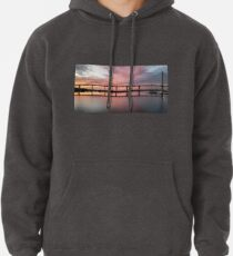 Winter Sunset under the Crossing Pullover Hoodie
