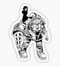 Bioshock - Big Daddy and little sister Sticker