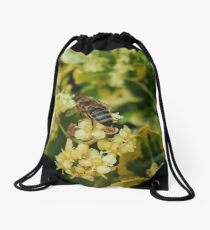Busy Bee Stops For A Rest Drawstring Bag