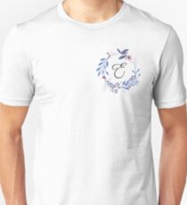 Flowers and the Letter E Unisex T-Shirt