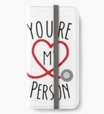 Du bist meine Person! iPhone Flip-Case/Hülle/Klebefolie