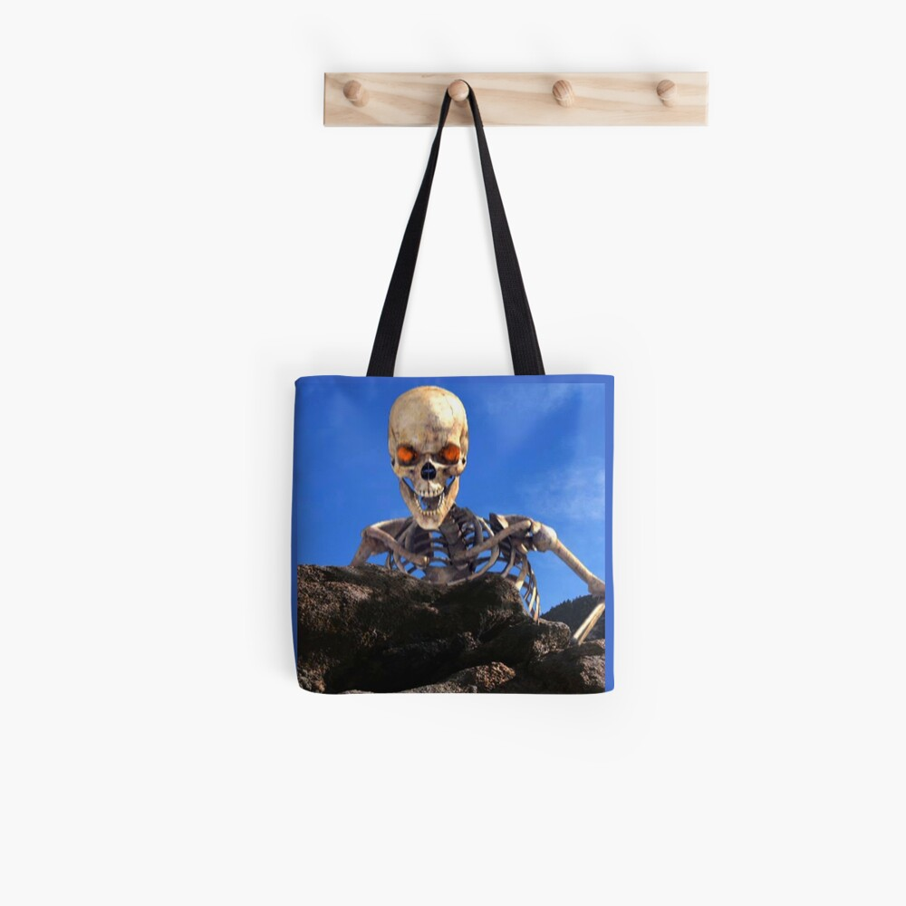 Undead looking over rocky summit in Gathering of Heroes: Legend of the Seven Swords Tote Bag