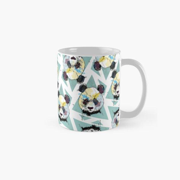 Geometric Watercolor Panda Pattern Classic Mug
