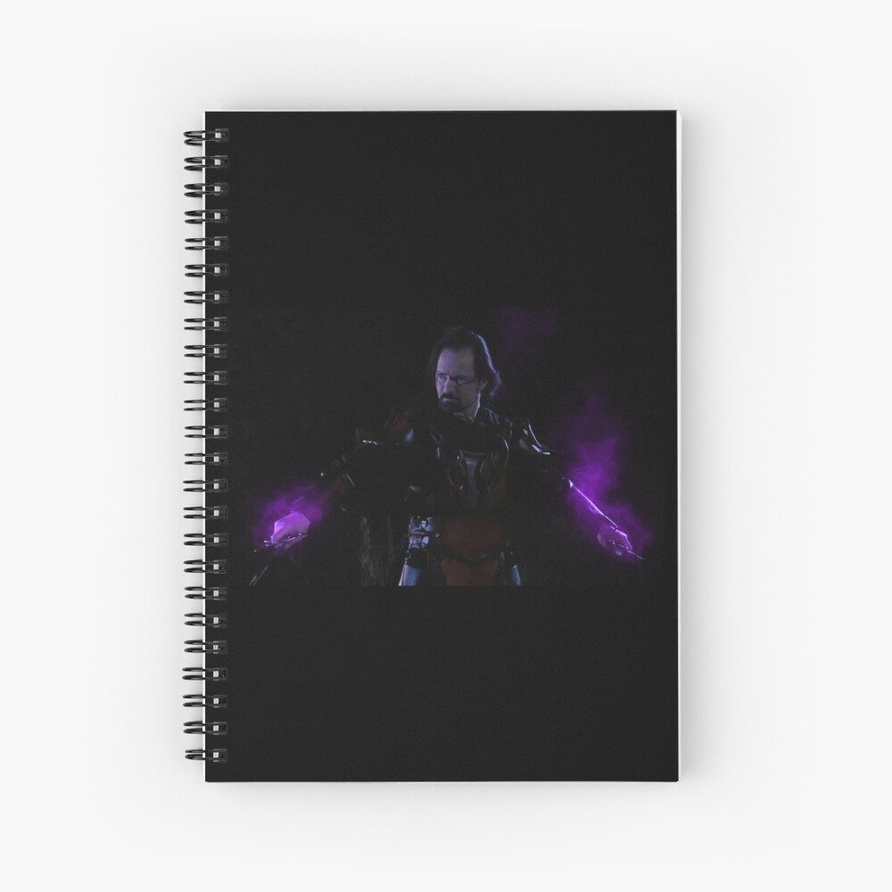The Power of the Ebony  Knights from Gathering of Heroes: Legend of the Seven Swords Spiral Notebook