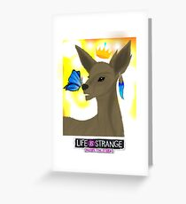 Life is Strange - Rachel and Chloe / Doe and Butterfly  Greeting Card