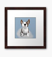 Bull Terrier Puppy Dog Framed Print