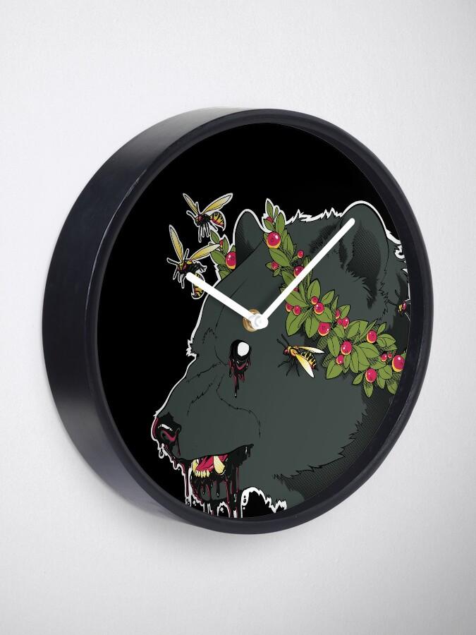 Alternate view of The World Has Teeth Clock