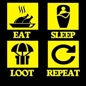PUBG - Eat sleep loot repeat - Chicken winner by izikil