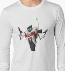 Dr. Zed's Claptrap Sticker Long Sleeve T-Shirt