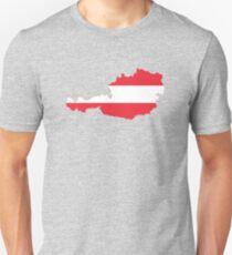 Austria Flag Map T-Shirt