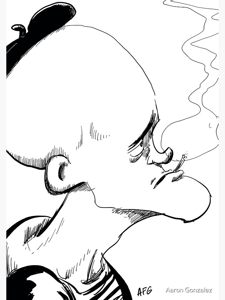 Inktober 2017 Day 04 - French Smoker by aaronfg