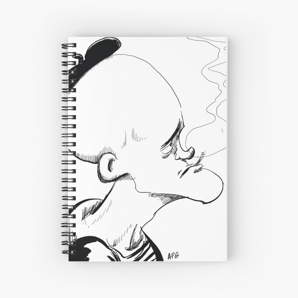 Inktober 2017 Day 04 - French Smoker Spiral Notebook