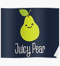 Juicy pear on dark Poster