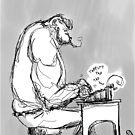 Inktober 2017 Day 02 - Gorilla Typewriter by Aaron Gonzalez