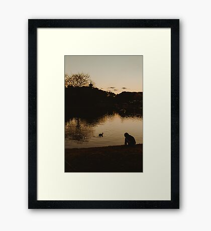 """...floating around accidental like on a breeze..."" Framed Print"