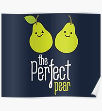 The perfect pear on dark Poster