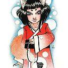 Fox Fire Kitsune Illustration by Nikita Iszard