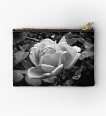 Rose in black and white Studio Pouch