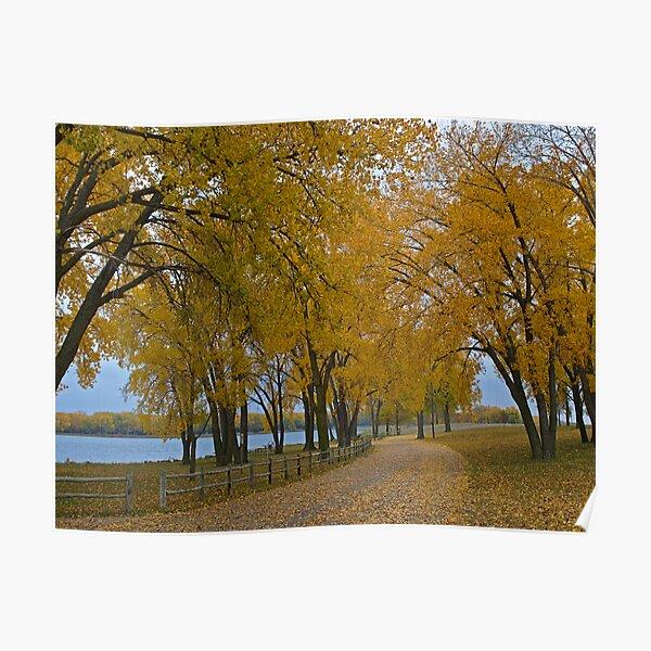 Lake Yankton in Autumn Poster