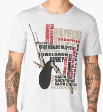 Sackpfeifen Textwolke Men's Premium T-Shirt