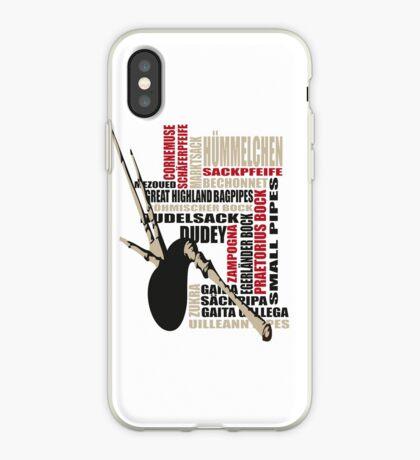Sackpfeifen Textwolke iPhone Case