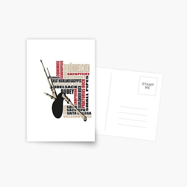 Sackpfeifen Textwolke Postcard