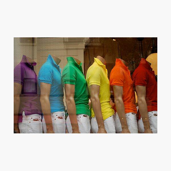 rainbow window Photographic Print