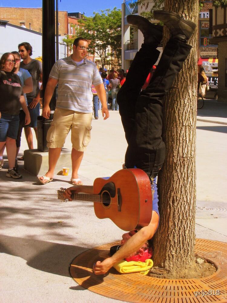 Upside Down Guitarist by girljo818