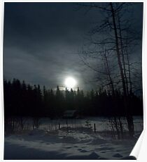 Moonlit Countryside Poster