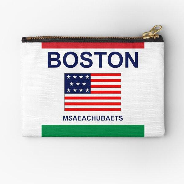 BOSTON FLAG Zipper Pouch