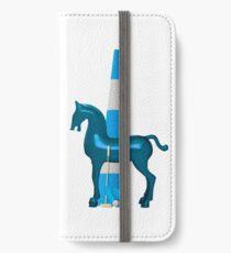 polo horse blue iPhone Flip-Case/Hülle/Skin